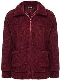 FISOUL Chaqueta De Invierno para Mujer Casual Outwear Lana Overcoat  Invierno Abrigo 0501a73a9d5b
