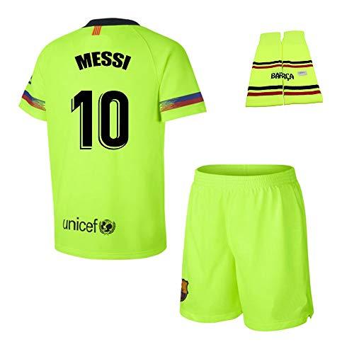 Personalizador Conjunto Complet Infantil FC Barcelona Réplica Oficial Licenciado de la Segunda Equipación Temporada 2018-19 - Dorsal Messi 10 (8 Años)