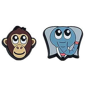 Gamma Schlägerzubehör Zoodamp 2er Affe Elefant Vibrationsdämpfer, mehrfarbig, S