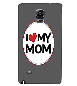 SAMSUNG GALAXY NOTE EDGE I LOVE MOM Back Cover by PRINTSWAG