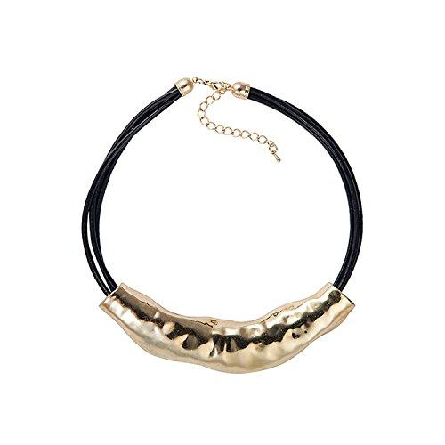 boda-noche-collar-llamativo-cadena-encantos-necklace-vintage-neuvo