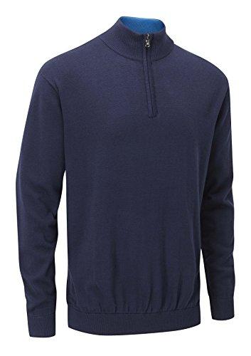 Stuburt Herren Urban Half Zip Neck Sweater–Midnight, Größe M (Half Zip Sweater Golf)