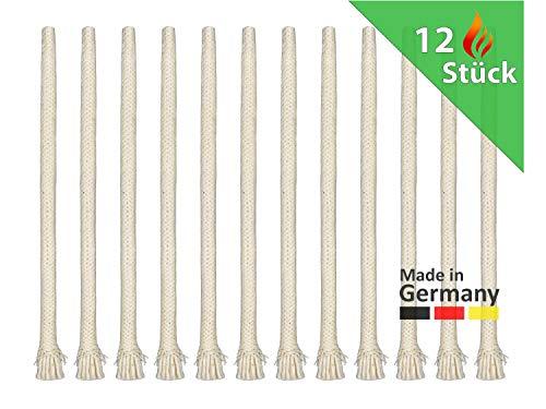 Gardemics Ersatzdochte für Gartenfackel Bambusfackel - 20 cm - Made in Germany - Fackel-Dochte für Öllampe