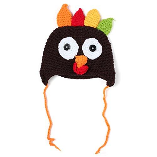 npa Festival Hut Gestrickt Türkei Hut Beanie Cap für Neugeborene Baby L (Türkei Baby-kostüm)