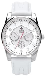 Royal London - 21083-02 - Montre Femme - Quartz Analogique - Bracelet Cuir Blanc