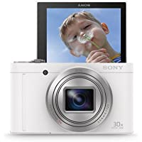 Sony DSCWX500 Digital Compact High Zoom Travel Camera with 180 Degrees Tiltable LCD Screen (18.2 MP, 30 x Optical Zoom, Wi-Fi, NFC) - White