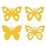efco Schmetterlinge aus Filz, verschiedene Miniaturen, aus Polyester, gelb, 40x 50mm, 8Stück