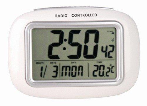 REC-32 Funk-Uhr-Wecker mit Thermometer, weiss