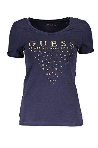 Guess Ss Rn Stars Tee, T-Shirt Donna BLU DPID