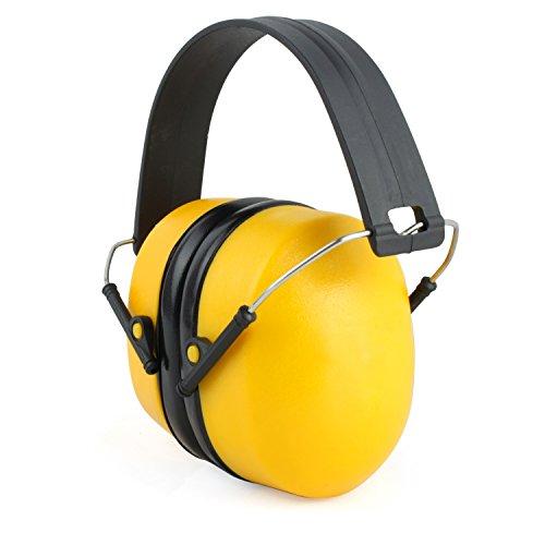 Incutex Kapselgehörschutz Gehörschutz Ohrschutz bis zu 110dB Lärmpegel, zusammenfaltbar, stufenlos verstellbar