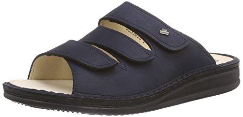 Marine-blau-leder-heels (Finn Comfort Korfu, Unisex-Erwachsene Sandalen, Blau (Marine), 38 EU)