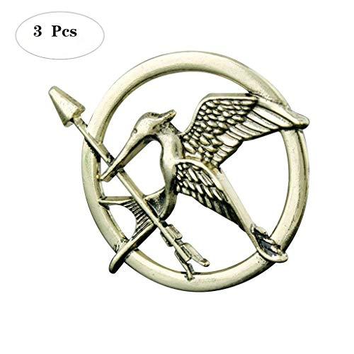Formemory 3Pcs Hunger Games Pin / Brosche Tribute von Panem Bronze Silber Brosche,Katniss Mockingjay Brosche (Bronze) (Katniss Hunger Games Kostüm)