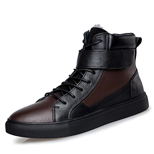 spades-clubs-mens-genuine-leather-winter-warm-fur-lined-fashion-leisure-magic-tape-ankle-strap-flat-