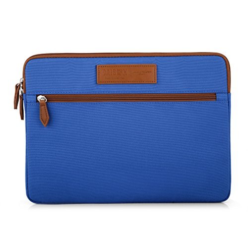 "Caison 13.3"" Designer Laptop Sleeve Case Notebook Bag Cover Apple 13"" MacBook Pro With Retina Display Air 13.5 inch Microsoft Surface Book (Blue)"
