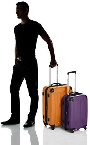 HAUPTSTADTKOFFER - Alex - 2er Koffer-Set Hartschale glänzend, TSA, 65 cm + 55 cm, 74 Liter + 42 Liter, Orange-Aubergine Orange-Aubergine