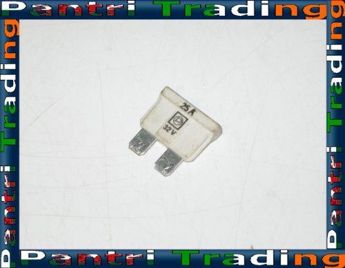 BMW White 25 A Amp Blade Type Spare Fuse 1372627
