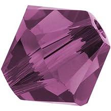 Cristal de SWAROVSKI 5328 tupis de 6 mm de cuentas (2) Amatista 0