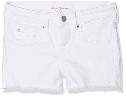 Pepe Jeans Mädchen Elsy Teen Badeshorts, Weiß (Denim), 10 Jahre (Herstellergröße: X-Small)