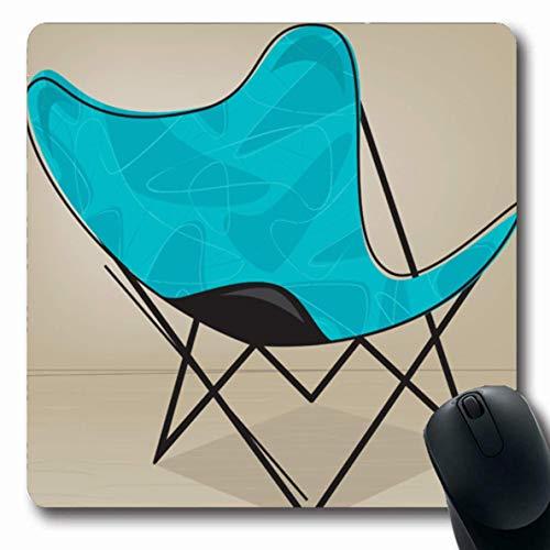 Vintage Patio Stühle (Luancrop Mousepad für Computer Notebook Patio Retro Vintage Schmetterling Stuhl Aqua Muster Bumerang Möbel Farbverlauf Design rutschfeste Gaming Mauspad)