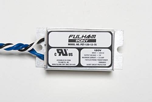 Fulham 10269 - PET-120-12-75 Low Voltage Incandescent Transformers and Ballast by Fulham - Low Voltage Ballast