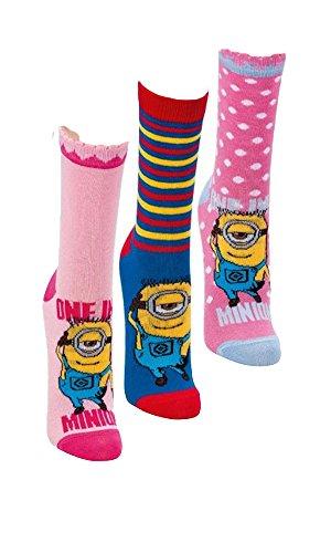 Despicable Me Minion Socken,3 Pack,Mädchen,26/30