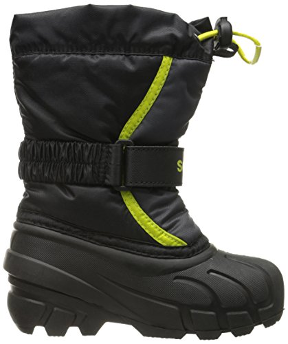 Sorel Bottes hiver NY1810-012 FLURRY Noir Chartreuse Noir Gris Black Chartreuse