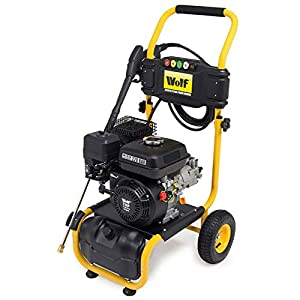 Petrol Pressure Washer 3200psi 220bar 7HP Wolf Petrol Driven Jet Power Washer Wolf Quick Fit Release Nozzles Car Garden by Wolf