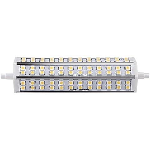 Lixada Lampada Compatta Fluorescente/Lampadine a LED, R7S,15W,72 LEDs, Bianco (Parcheggio Negozio)