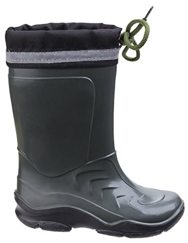 Cotswold Fleece Lined Kids Wellies with Reflective Safety Strip - for Boys and Girls