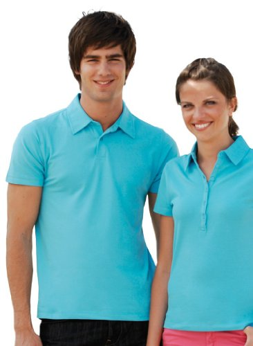 Stretch Piqué Poloshirt Surf Blue