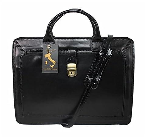 Leatherworld Damen Herren Echt-Leder Tasche Aktentasche Arbeitstasche Notebooktasche Laptoptasche 15 16 Zoll DIN A4 Umhängetasche Dokumenten-tasche Büro aus hochwertigem Leder LT011