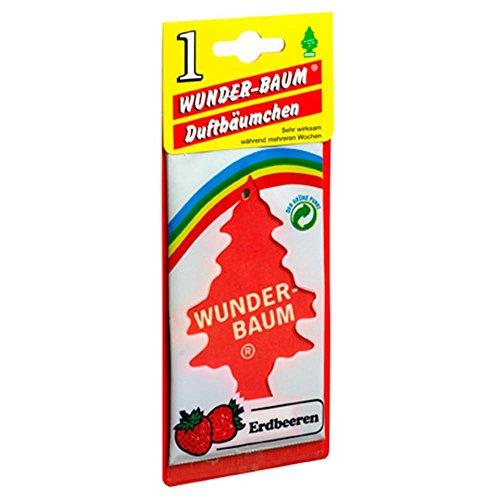 Preisvergleich Produktbild 5 x Wunderbaum Lufterfrischer Erdbeere 134209