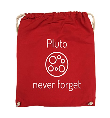 Comedy Bags - Pluto never forget - Turnbeutel - 37x46cm - Farbe: Schwarz / Silber Rot / Weiss