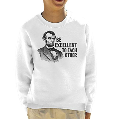 Cloud City 7 Bill and Ted Abe Lincoln Be Excellent Kid's Sweatshirt