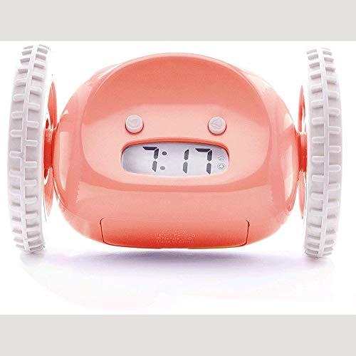 MMPY Reloj Despertador móvil Reloj Despertador rodante