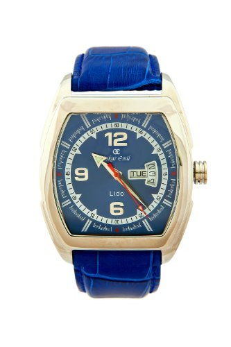 Oskar Emil Gents Blue Lido watch with day and date