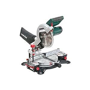 Metabo Kappsäge KS 216 M Lasercut ( Kapp Funktion, 1350 W, Sägeblatt Ø 216 mm, beidseitig schwenk- und neigbarer Sägekopf, Laser, LED-Arbeitslicht) - Gehrungssäge 619216000