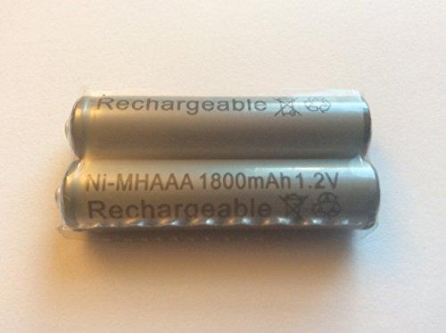 2x alta capacidad 1800mAh aaa ni-mh baterías recargables 1,2V, para teléfono inalámbrico, descarga baja