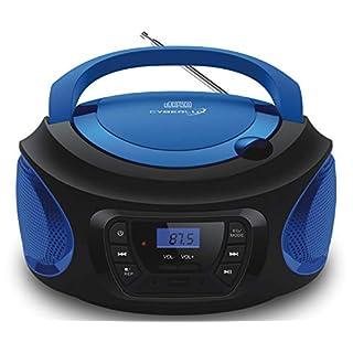 Tragbarer CD-Player | | CD/CD-R | USB | FM Radio | AUX-In | Kopfhöreranschluss | Kinder Radio | Boombox | CD-Radio | Stereoanlage | Kompaktanlage (Cobalt Blue)