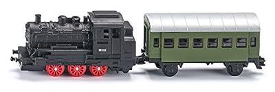 Siku 1657 - Dampflok mit Personenwagen von SIKU