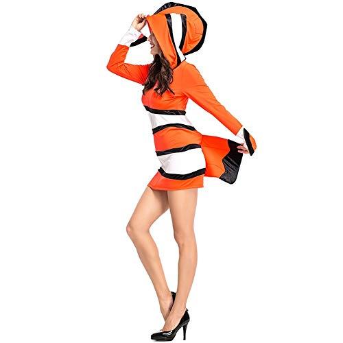 LOLANTA Erwachsenen Clownfisch Kostüm Halloween Eltern-Kind Familien-Kostüm Mädchen Halloween Clownfish Kostüm (M, Dame)
