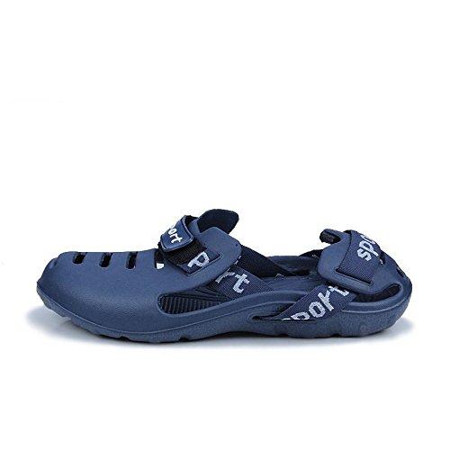 Xing Lin Chaussures DÉté Hommes Chaussons DÉté Chaussures De Plage Hommes Nouveaux Creux Trou Respirant Chaussures Sandales Hommes blue