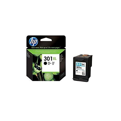 HP 301XL Black Ink Cartridge - Cartucho de Tinta para impresoras (Negro, Negro, Inyección de Tinta, 20-80%, -40-60 °C, 15-32 °C) No