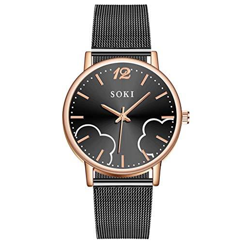 nduhr Einfache Uhren Analoge Mesh Armband Uhren für Frauen Edelstahl Band Uhr Damenuhren LEEDY ()