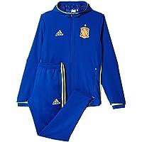 Adidas FEF Pre Suit Chándal, Unisex, Azul/Amarillo, L
