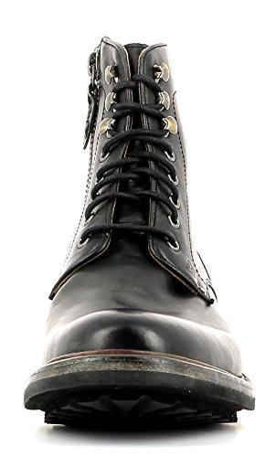Gordon & Bros Nimo Nico S160501 P Stylischer Herren Leder Schnürstiefel mit seitlichem Reißverschluss, used look, Profil Gummisohle in Blake Rapid Machart Black