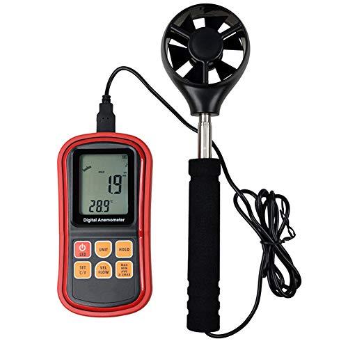 YBYBYB Anemometer-Handaufspaltungs-Messgerät LCD-Hintergrundbeleuchtungs-Schirm-Wind-Meter Passend Für Das Surfen des Bergsteigens Im Freien,Red,OneSize