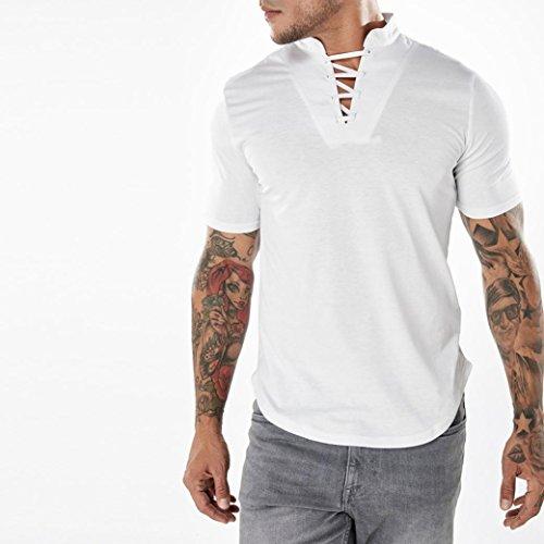 1 ärmel 2 Roll-up-shirts Damen (2018 Summmer GreatestPAK Herren Slim Kurzarm T-Shirt Crew T Shirt Polo Hemd Weiß Grau Rot)