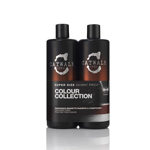 CATWALK by TIGI Fashionista Brunette Tween Duo Shampoo and Conditioner for Coloured Hair 2x750 ml