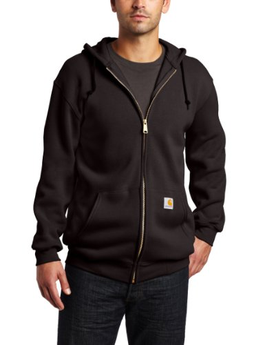 Carhartt Men's Big & Tall Midweight Sweatshirt Hooded Zip Front Original Fit K122,Black,XXX-Large (Carhartt Midweight Hooded Zip Sweatshirt)